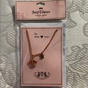 Juicy Couture necklace rose gold NIB